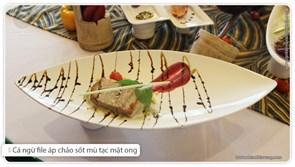 Cá ngừ file áp chảo - sốt mù tạc mật ong