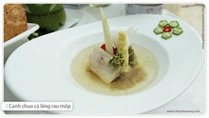 Canh chua cá lăng + rau mốp