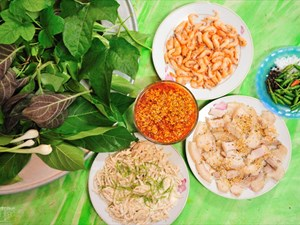 A signature salad in Kon Tum