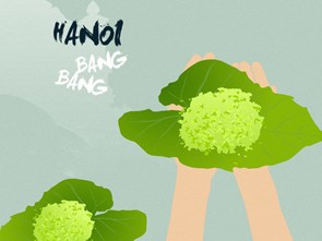 Hanoi Bang Bang II: Fall's green rice flakes