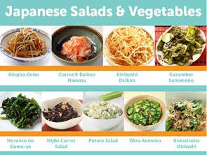 9 Popular Japanese Salads & Vegetable Dishes