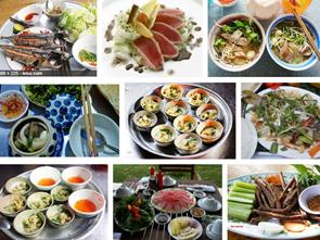 Món ăn của biển và đất liền