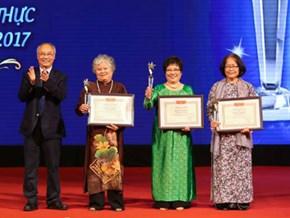 Ba nghệ nhân ẩm thực hàng đầu Việt Nam được vinh danh