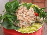 Gỏi cá nhệch - món ngon khó quên của miền biển Nga Sơn