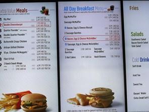 Các chuỗi nhà hàng Mỹ phải công bố hàm lượng calo của các món ăn