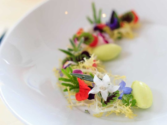 Hoa trong ẩm thực đương đại
